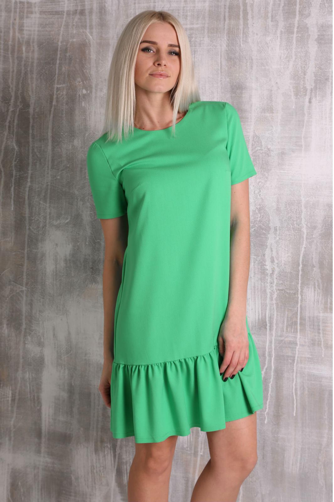 Зелёное летнее платье фото